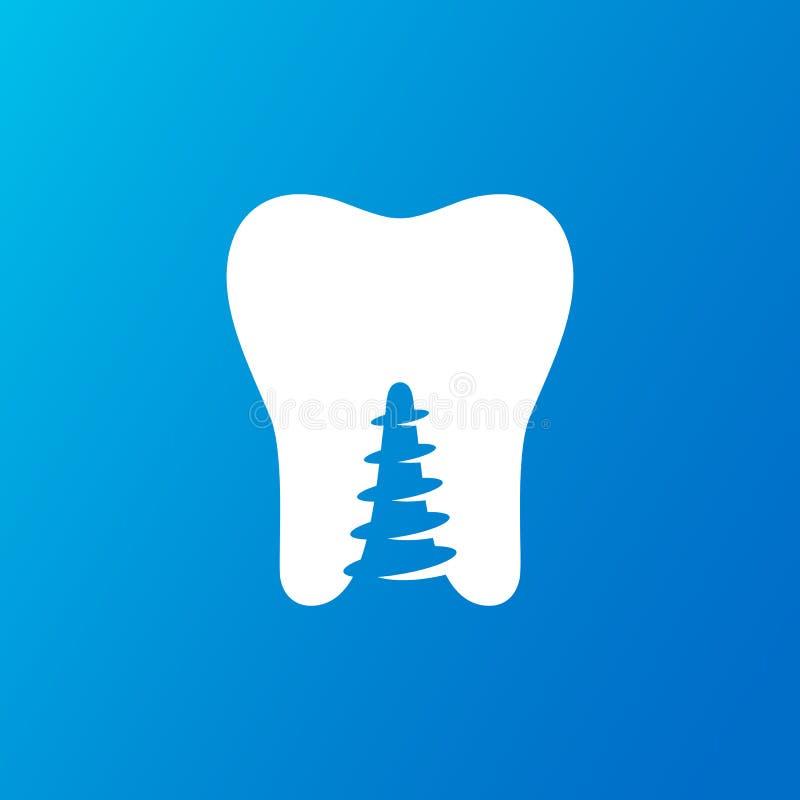 Progettazione di logo dell'ammaccatura di salute royalty illustrazione gratis