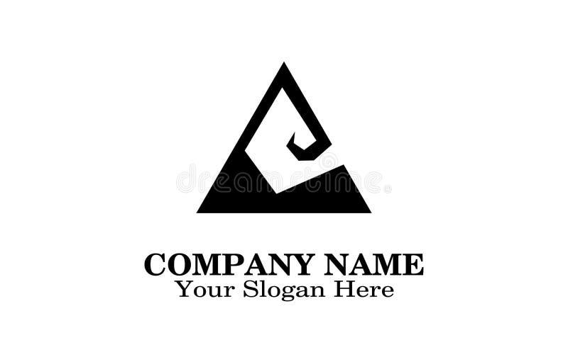 Progettazione di logo dell'escavatore illustrazione di stock