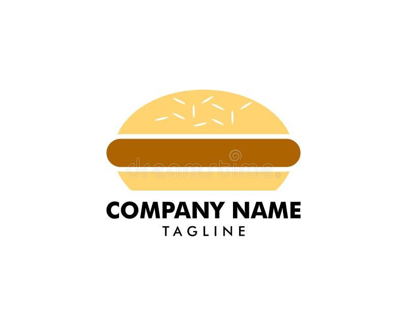 Progettazione di logo dell'hamburger royalty illustrazione gratis
