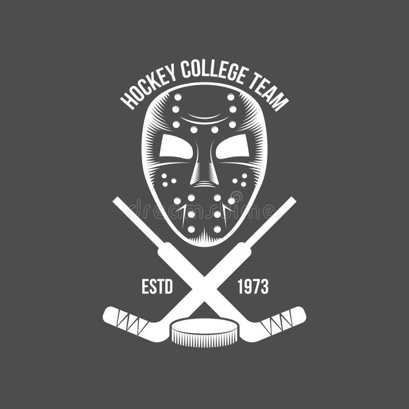 Progettazione di logo dell'hockey royalty illustrazione gratis
