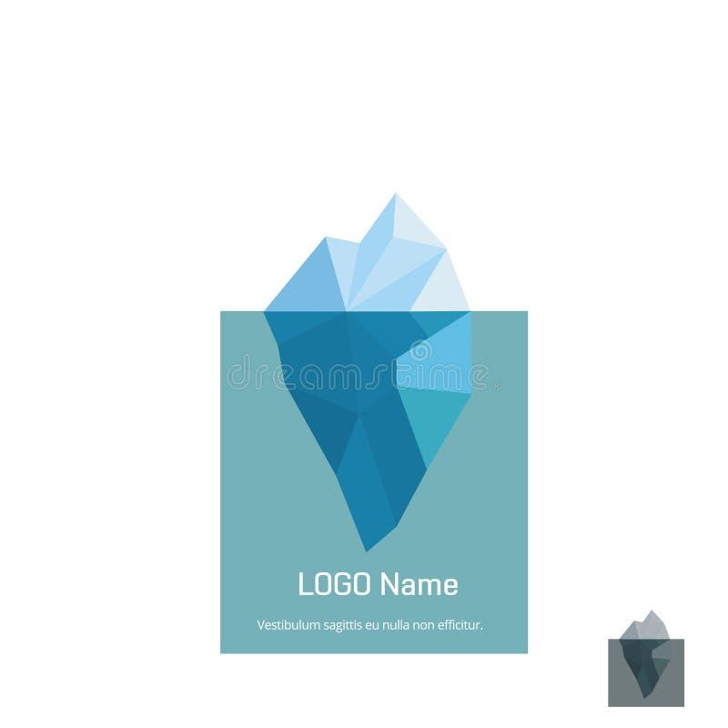 Progettazione di logo dell'iceberg del triangolo Illustrazione di vettore royalty illustrazione gratis