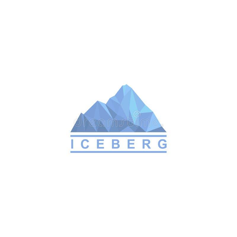 Progettazione di logo dell'iceberg, icona di vettore royalty illustrazione gratis
