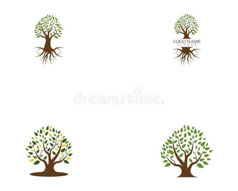 Progettazione di logo dell'icona dell'albero royalty illustrazione gratis