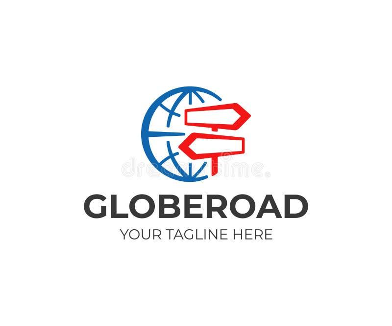 Progettazione di logo dell'importazione, dell'esportazione e di distribuzione Progettazione di vettore di logistica e di consegna illustrazione di stock