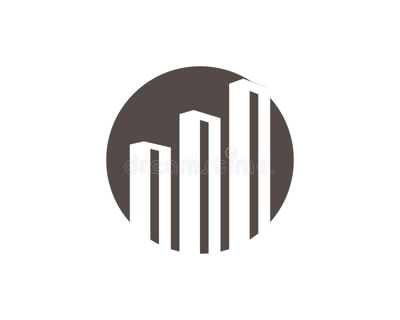 Progettazione di logo della costruzione e della propriet? illustrazione vettoriale