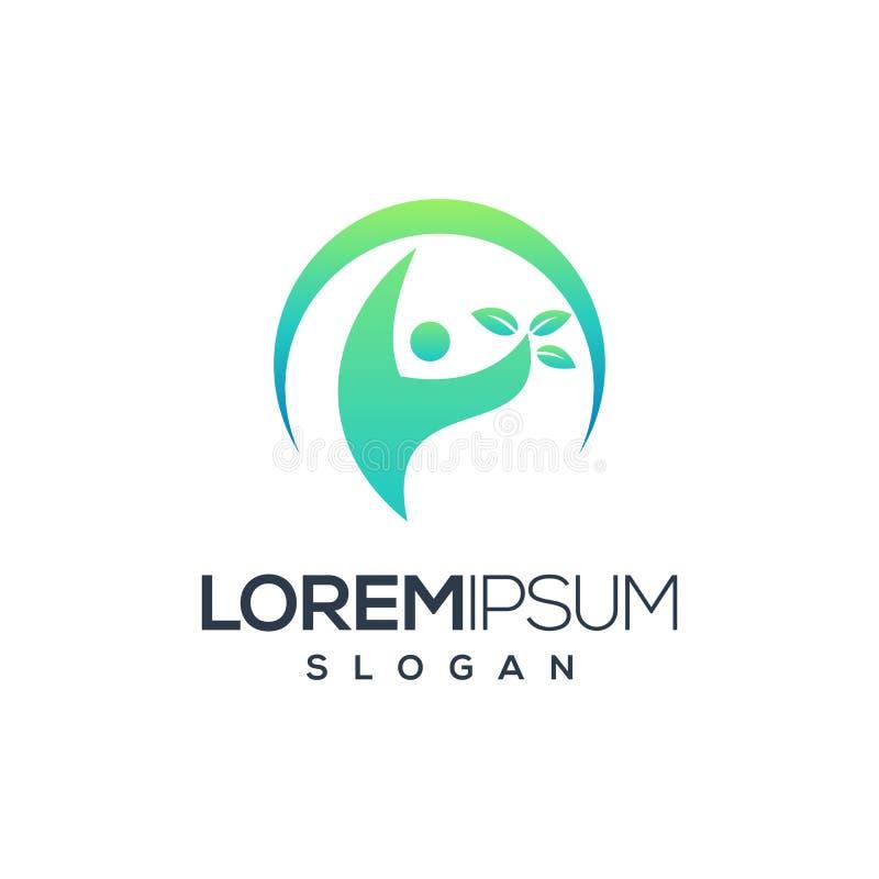 Progettazione di logo della gente, vettore, illustrazione pronta per l'uso royalty illustrazione gratis