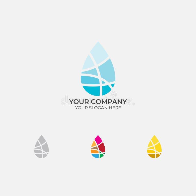 Progettazione di logo della goccia di acqua illustrazione vettoriale