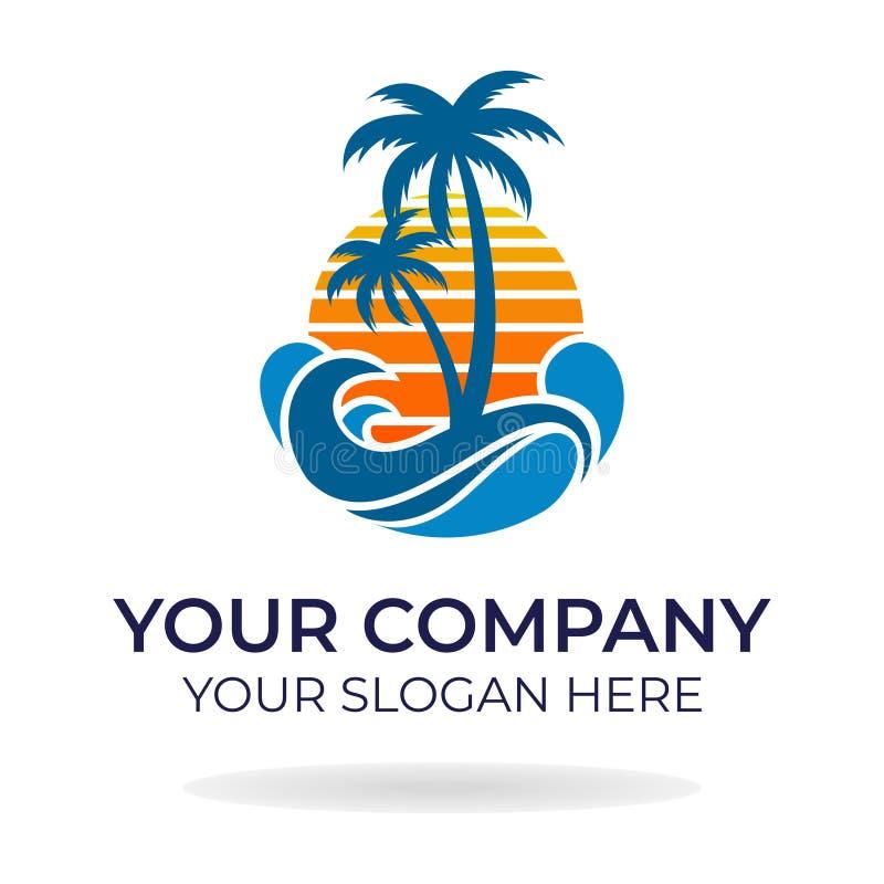 Progettazione di logo della spiaggia immagine stock libera da diritti