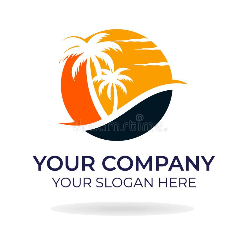 Progettazione di logo della spiaggia fotografie stock libere da diritti