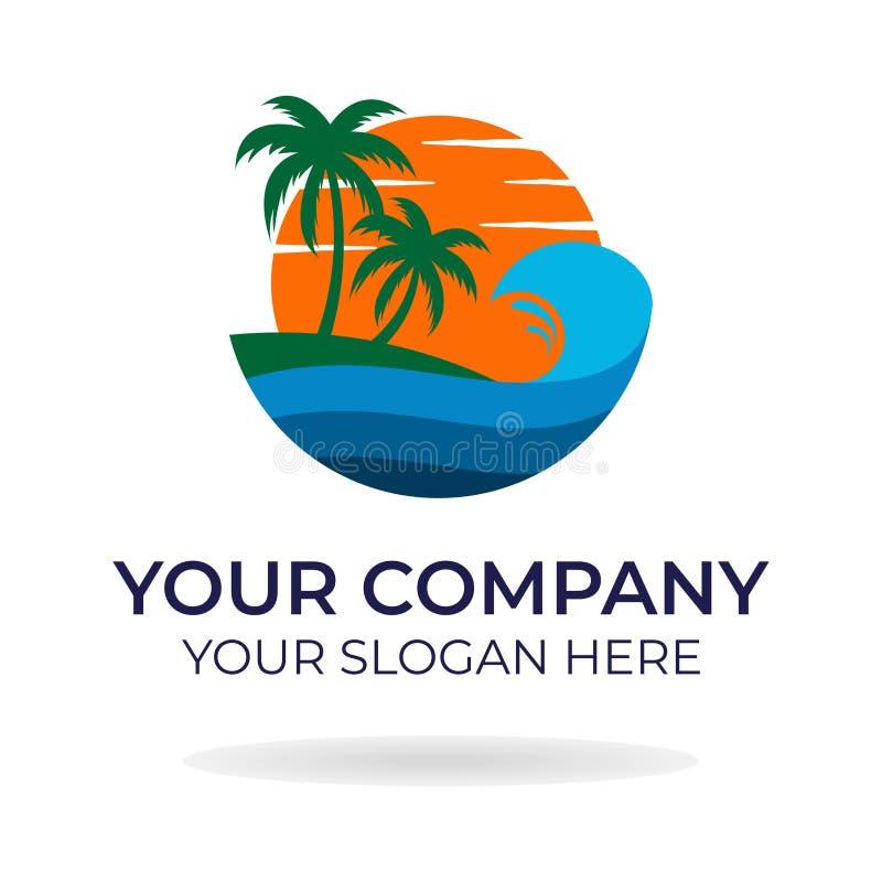 Progettazione di logo della spiaggia fotografie stock