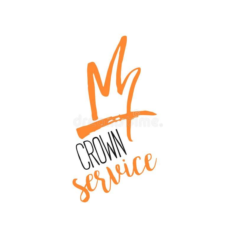 Progettazione di logo di gree di lerciume della corona Icona di lusso del boutique di bellezza illustrazione vettoriale