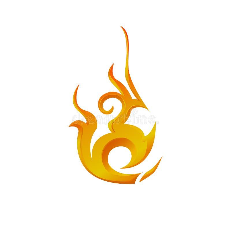 Progettazione di Logo Element Fire immagine stock libera da diritti
