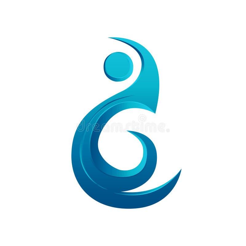 Progettazione di Logo Element Water Aqua fotografia stock libera da diritti