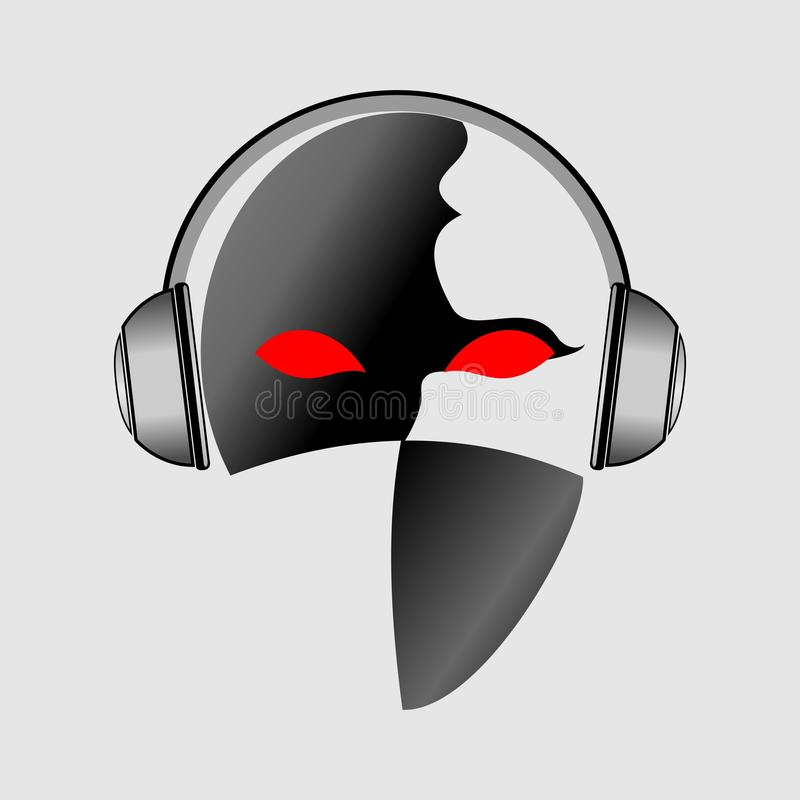 progettazione di logo di musica fotografia stock libera da diritti