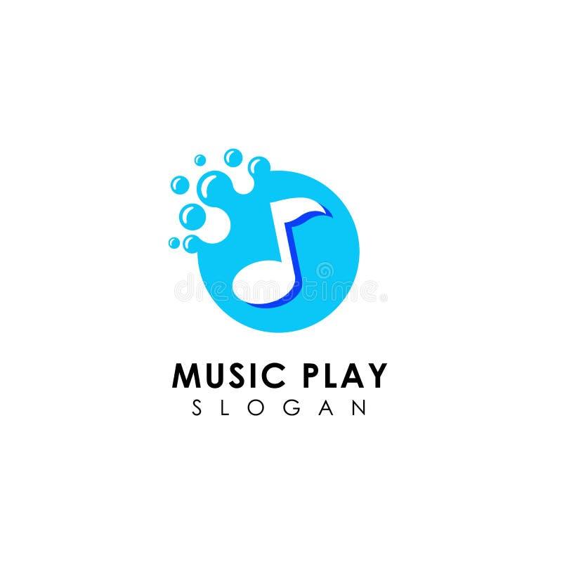 progettazione di logo di musica dei punti progettazione piana di simbolo della nota di musica royalty illustrazione gratis