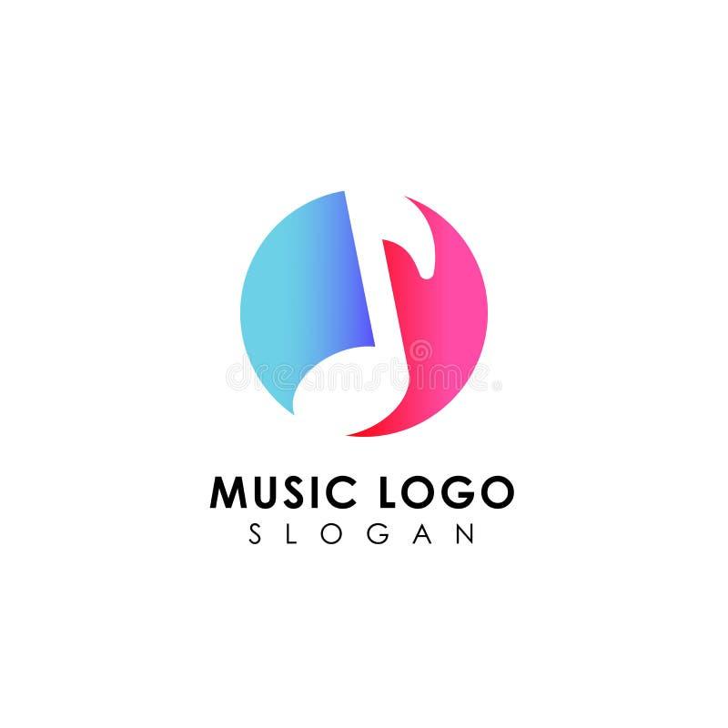 progettazione di logo di musica progettazioni piane di simbolo della nota di musica royalty illustrazione gratis