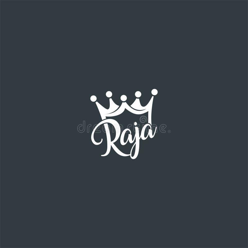 Progettazione di logo di re o del raja o della corona royalty illustrazione gratis