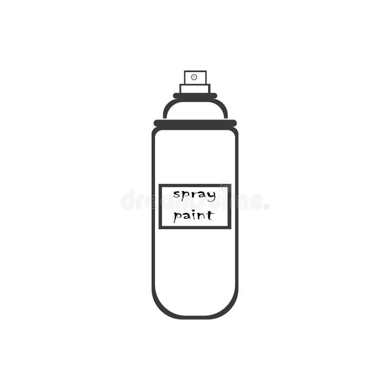 progettazione di Logo Template dell'icona dell'illustrazione di vettore della pittura di spruzzo illustrazione vettoriale