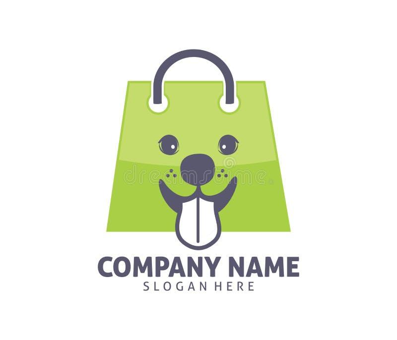 Progettazione di logo di vettore di adozione del negozio della clinica del cane del gatto dell'animale domestico illustrazione vettoriale