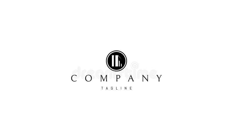 Progettazione di logo di vettore del cerchio di architettura di impresa immobiliare royalty illustrazione gratis