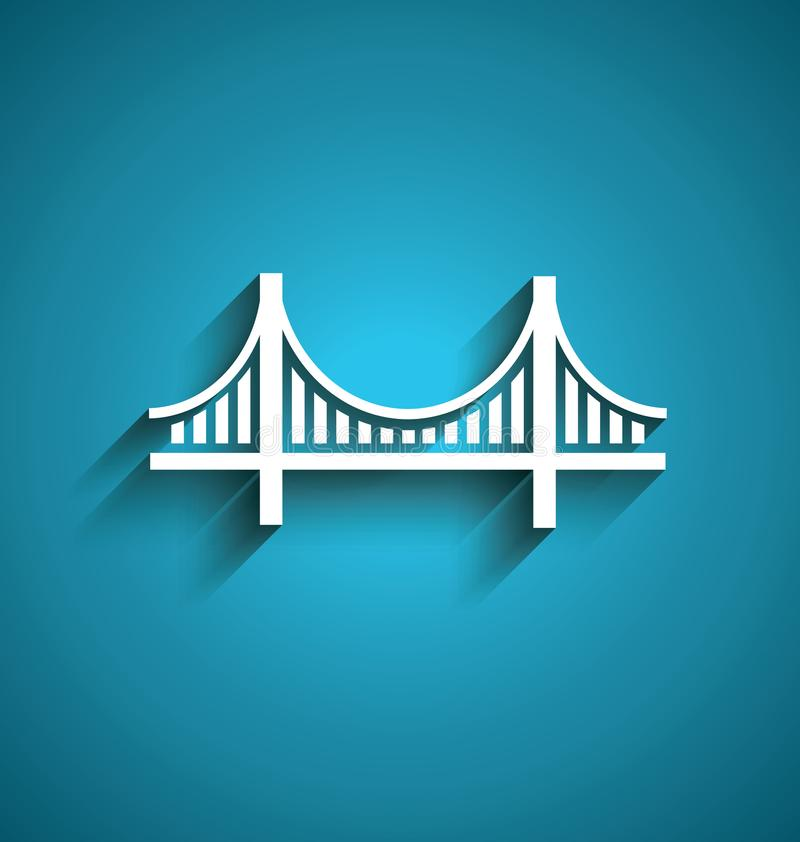 Progettazione di logo di vettore del ponte di San Francisco illustrazione di stock