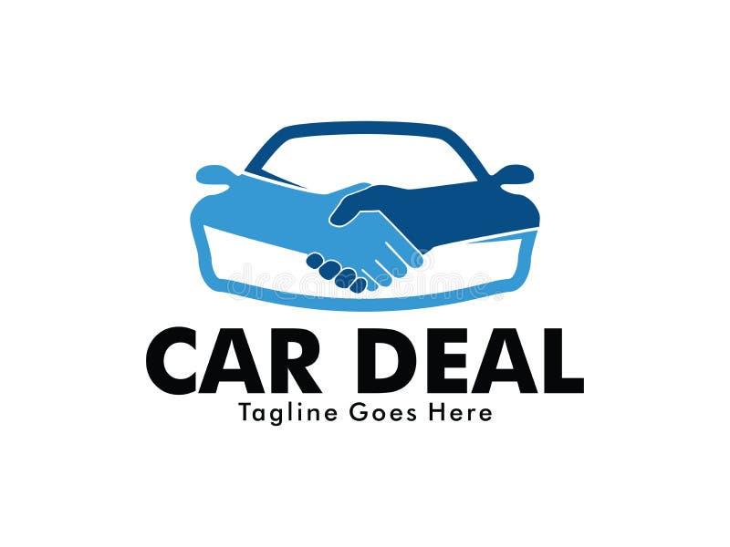 Progettazione di logo di vettore dell'introduzione sul mercato di affare di affari di tecnologia del commerciante di automobile e