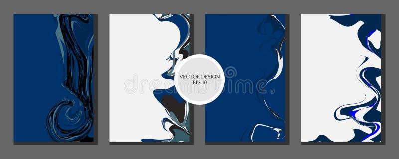 Progettazione di marmo liquida di struttura Colore leggero Composizione astratta variopinta Miscela delle pitture acriliche Arte  illustrazione vettoriale