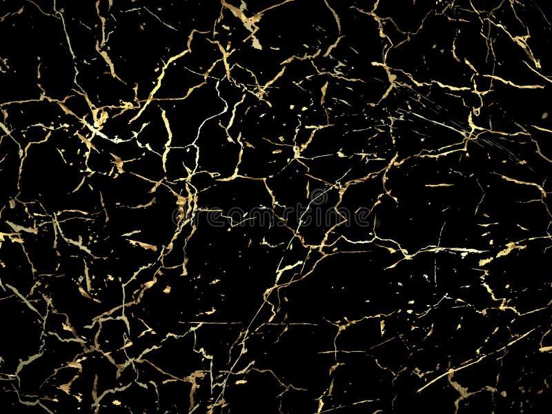Progettazione di marmorizzazione di struttura dell'oro per il manifesto, opuscolo, invito, royalty illustrazione gratis