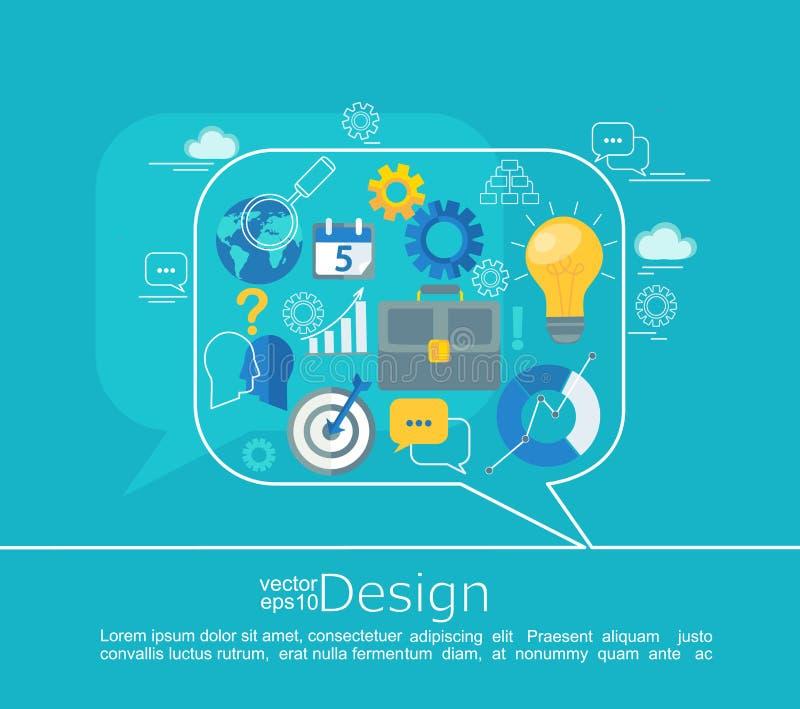 Progettazione di massima consultantesi illustrazione vettoriale
