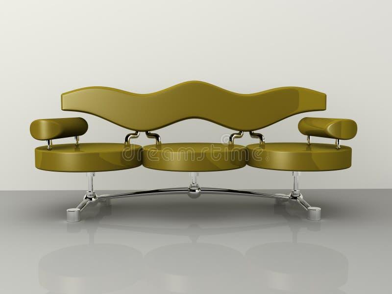 Progettazione di massima del sofà illustrazione di stock