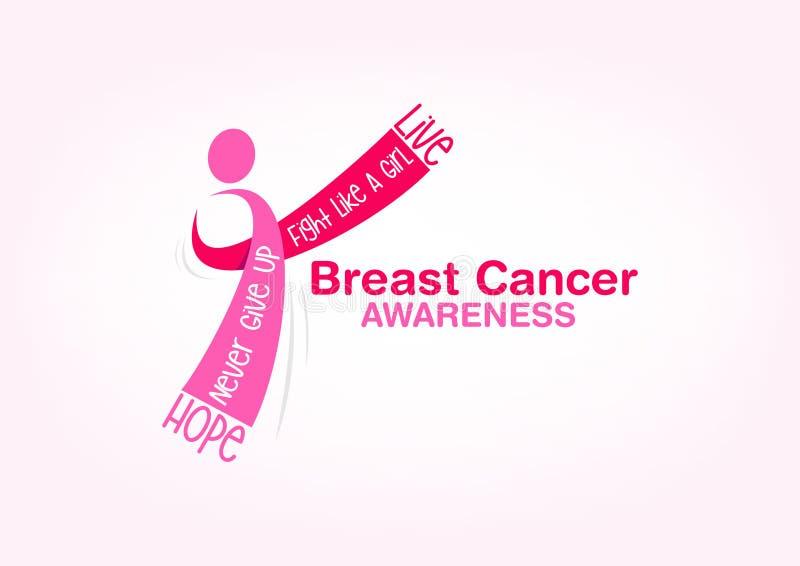 Progettazione di massima di consapevolezza del cancro al seno illustrazione vettoriale