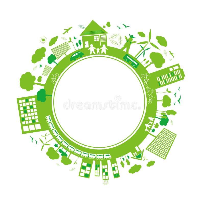 Progettazione di massima di ecologia illustrazione di stock