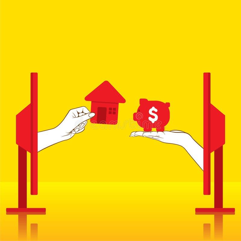 Progettazione di massima domestica nuova d'acquisto illustrazione di stock