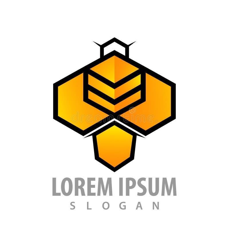 Progettazione di massima geometrica di esagono dell'ape Vettore grafico dell'elemento del modello di simbolo illustrazione di stock