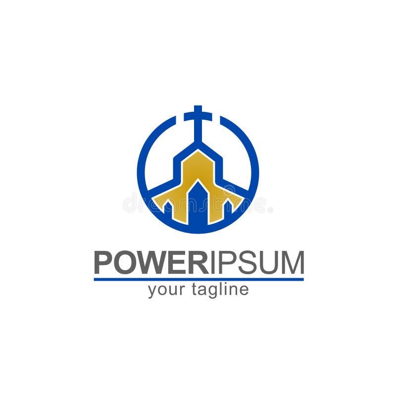 Progettazione di massima per il logo della chiesa royalty illustrazione gratis