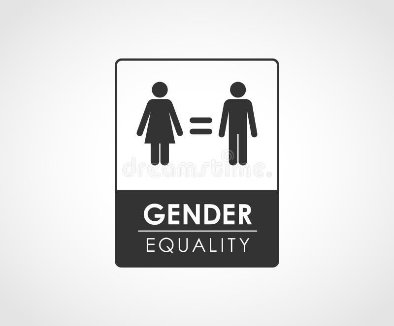 Progettazione di massima di uguaglianza di genere illustrazione di stock
