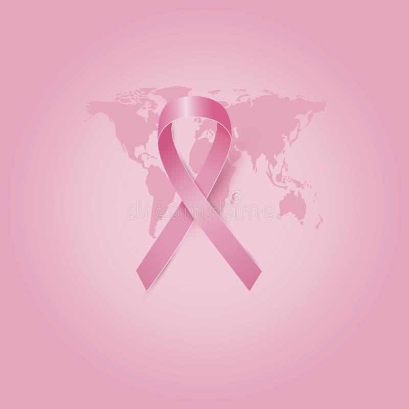 Progettazione di mese di consapevolezza del cancro al seno illustrazione di stock