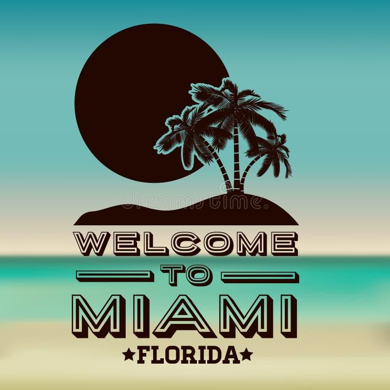 Progettazione di Miami illustrazione vettoriale
