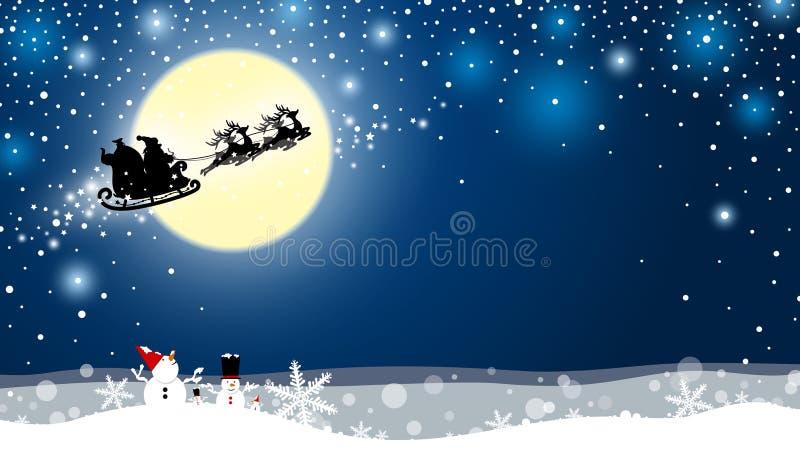 Progettazione di Natale del Babbo Natale e della renna royalty illustrazione gratis