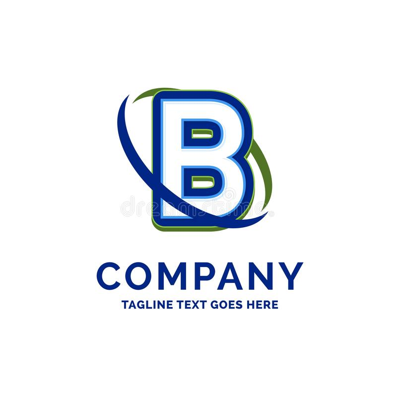 Progettazione di nome di B Company Modello di logo Posto del modello di marca commerciale illustrazione di stock