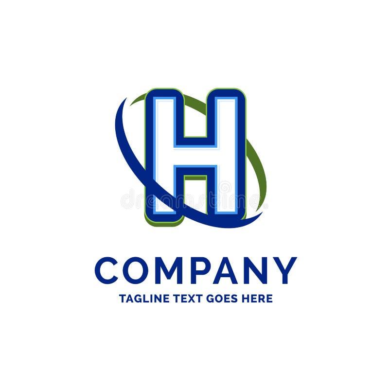 Progettazione di nome di H Company Modello di logo Posto del modello di marca commerciale illustrazione di stock