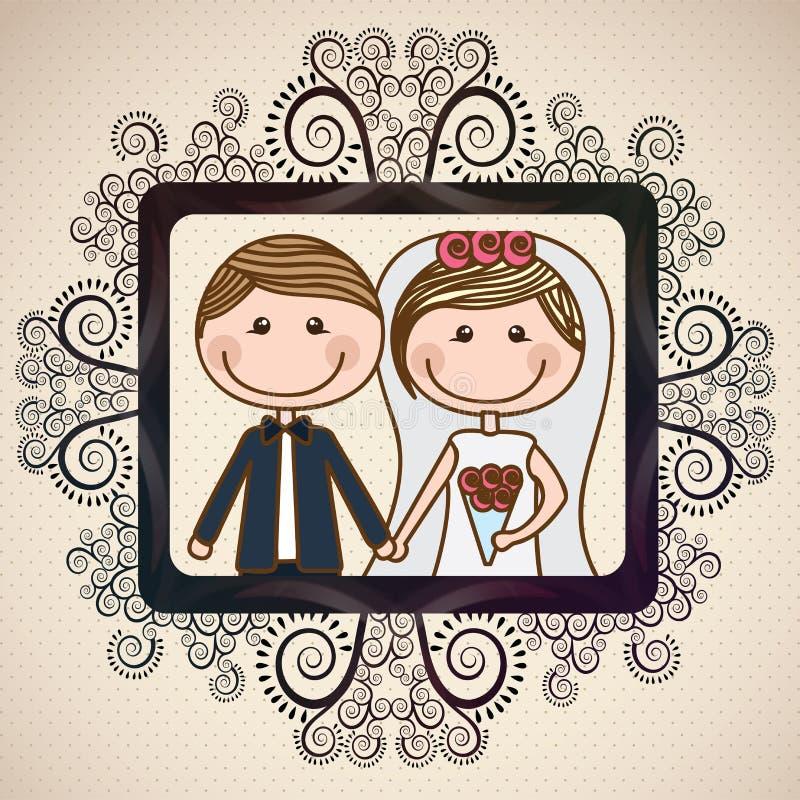 Progettazione di nozze royalty illustrazione gratis