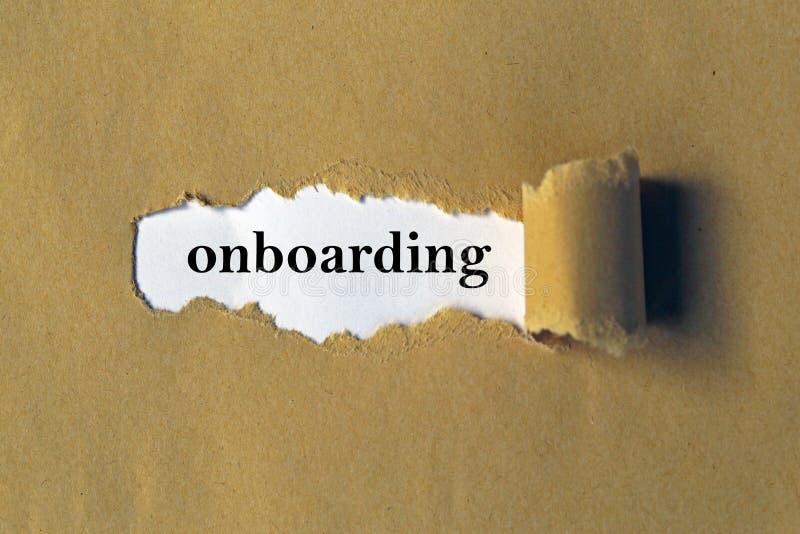 Progettazione di Onboarding fotografia stock