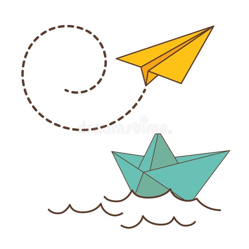 Progettazione di origami illustrazione vettoriale