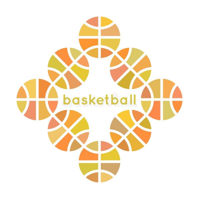 Progettazione 1 di pallacanestro illustrazione vettoriale