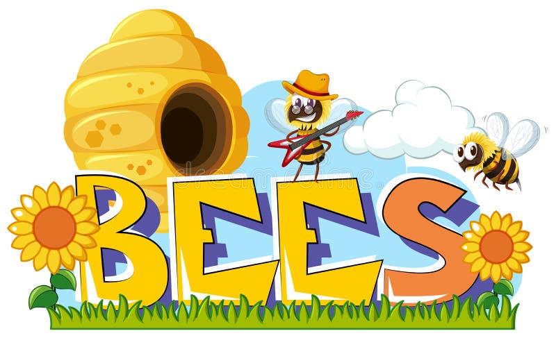 Progettazione di parola per le api illustrazione vettoriale