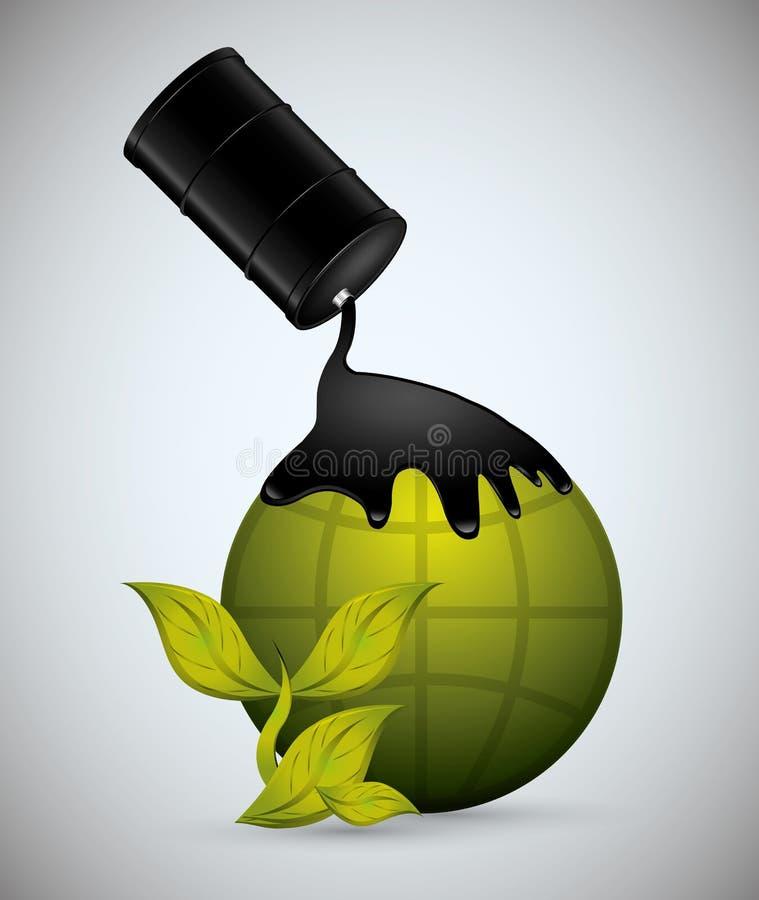 Progettazione di prezzo del petrolio illustrazione vettoriale