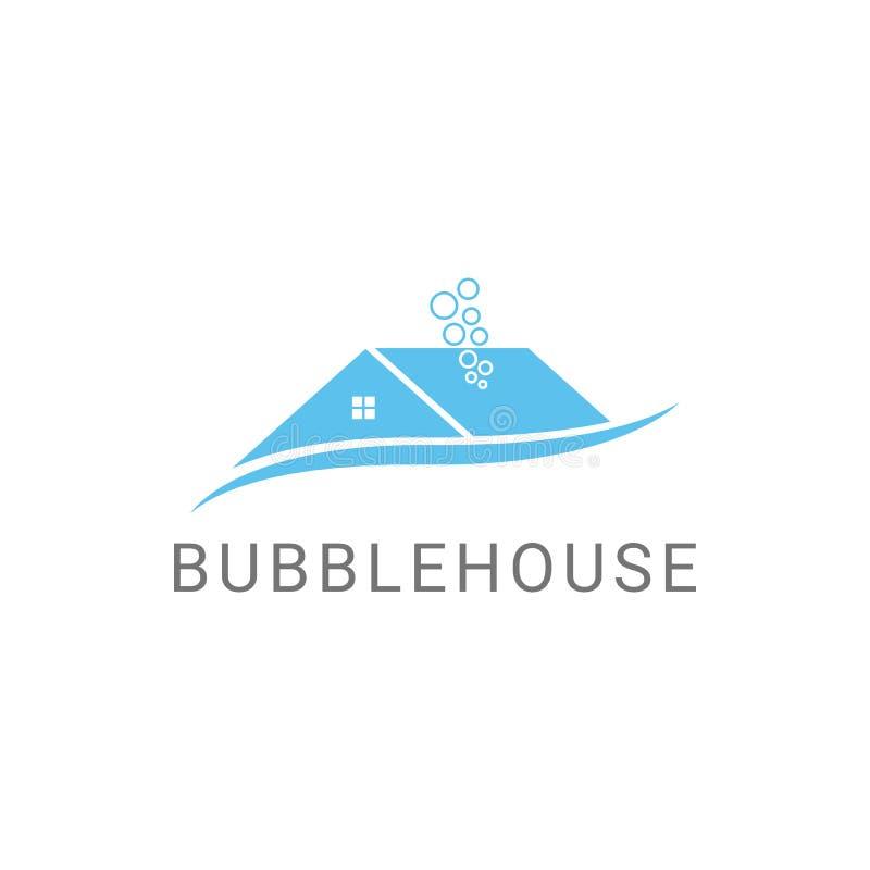 Progettazione di pulizia di logo di servizi di Bubblehouse illustrazione di stock