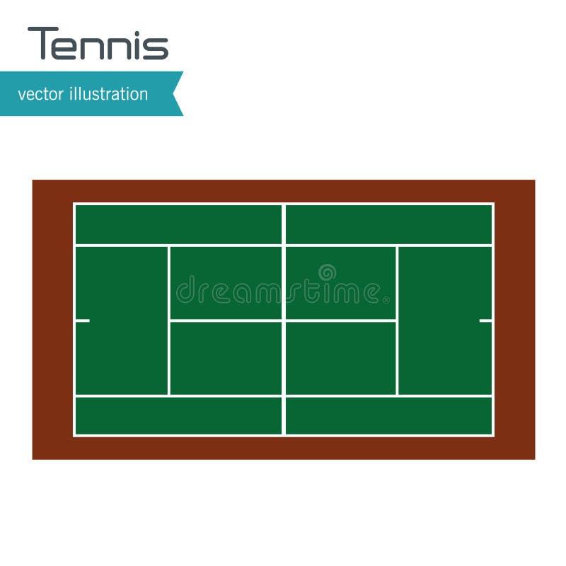 Progettazione di punto di vista superiore del campo da tennis royalty illustrazione gratis