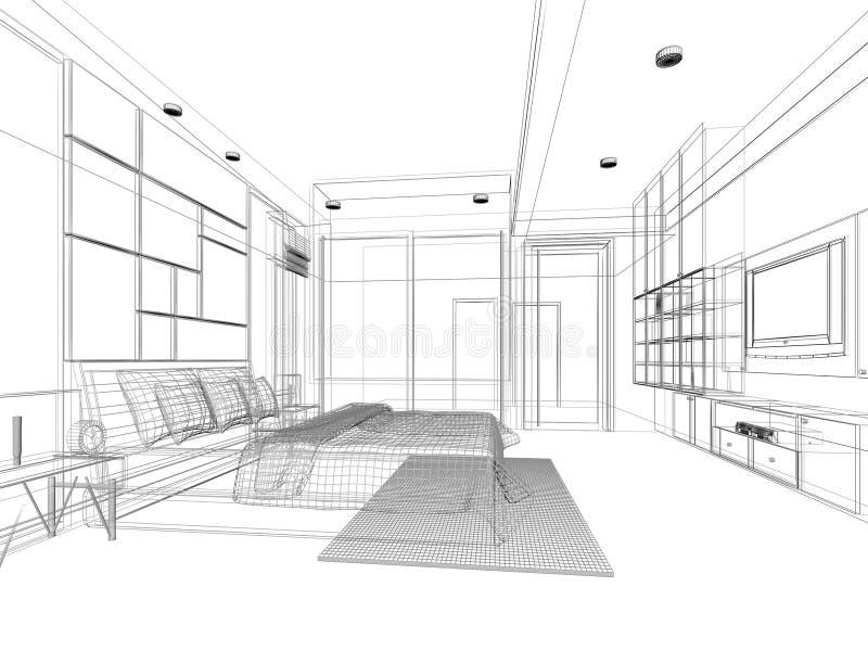Progettazione di schizzo della camera da letto for Programma di disegno della casa libera